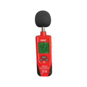 New Pspl25 Pyle Sound Level Meter red black Color