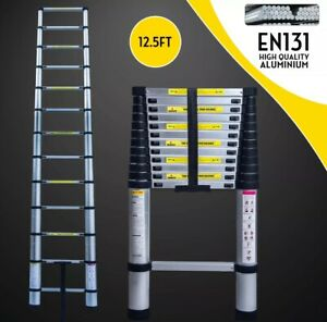12 5ft Telescoping Extension Ladder Folding Portable Aluminium Step