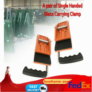 Single Handed Hand Carrying Clamp For Stone Or Glass 85 Kg Holding 2pcs Clamp