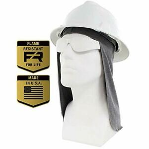Hard Hat Accessories Flame Resistant Fr Liner Sun Shade Lt Gray One Size All