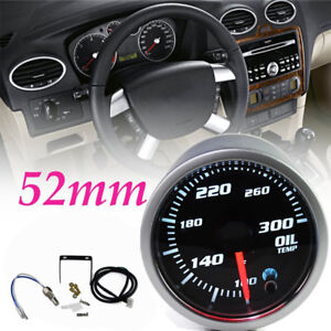 52mm Universal Tinted 7 Color Oil Temperature Gauge 100 300f