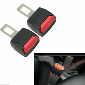 2 Universal Auto Car Safety Seat Belt Buckle Extender Extension Alarm Stopper Us