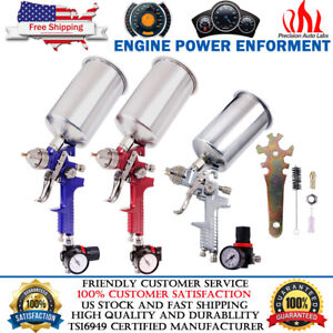 1 4 2 5mm Hvlp Gravity Feed Spray Gun Kit W Regulator Auto Paint Primer Flake