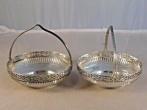 Lot Of 2 Sterling Silver 4 3 4 Baskets 200 Grams