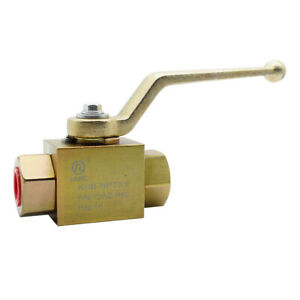 Hydraulic High Pressure 2 Way Steel Colored Ball Valve 3 8 Npt 7250 Psi