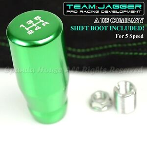 For Kdm Cars M10 Long White 5 Speed Manual Shift Knob Green Green Stitch Boot