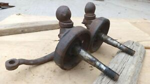 1932 1934 Ford Front Spindles Original Pair Coupe Sedan 1 2 Ton Pickup Truck