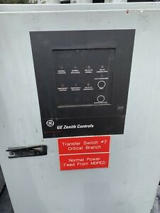 Ge Zenith Controls 200 Amp 120 208v 60hz Automatic Transfer Switch