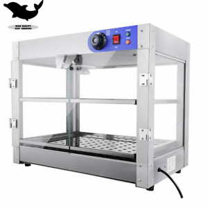 2 tier Commercial 24x19x15 Countertop Food Pizza Warmer Display Cabinet Case