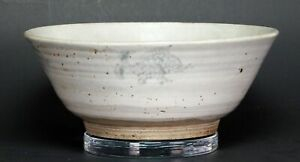 Antique Chinese Porcelain Blue White Kitchen Qing Large Bowl With Fish