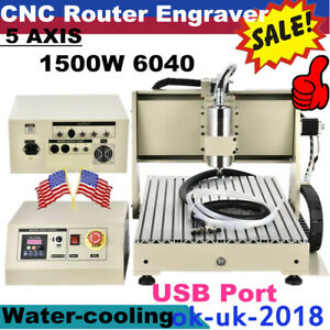 Usb 6040 5axis Cnc 1500w Router Engraving Machine Metal Milling Cutting Machine