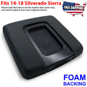 Fit 14 19 Chevy Silverado Gmc Sierra Oem Center Console Armrest Lid Cover Black