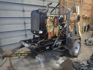 Sykes Gp 150m Diesel Trash Pump Runs Exc Video Cat C4 4 2250 Gpm Water