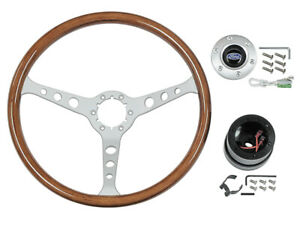 New 1965 67 Fairlane Steering Wheel Kit Falcon Galaxie Mustang 3 spoke 15in Ford