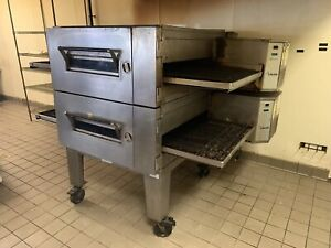 Lincoln Impinger Conveyor Double Stack Pizza Oven Gas Model 1600 32 Conveyor
