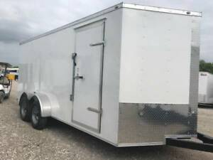 Enclosed Trailer 7x16 2 V Nose 6 6 Ft Tall Cargo Trailer Texas Built Cargo