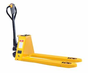 Lithium Electric Pallet Jack Truck Capacity 3300lbs 48 lx27 w Fork