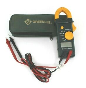 Used Greenlee Cm 600 Ac 600a Clamp on Multi Meter With Lead Wires