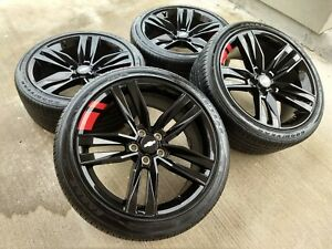 20 Chevy Camaro Red Line Sport Oem Black Wheels Rims Tires 5855 2017 2018 2019