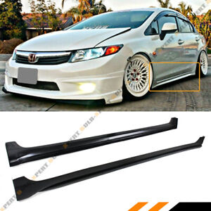 For 2012 15 9th Honda Civic 4dr Sedan Tr Style Rocker Panel Side Skirt Extension