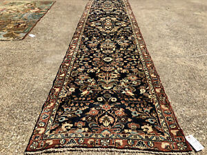 2x13 Blue Runner Persian Rug Wool Rugs Hand Knotted Navy Green 3x13 2x14 2x12