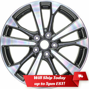 New Set Of 4 18 Machined Charcoal Alloy Wheels Rims For 2013 2018 Nissan Altima