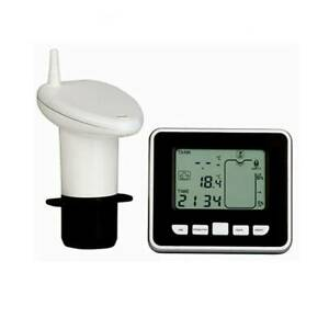 Monitor Ultrasonic Wireless Tank Water Level Gauge Indoor Temp Liquid Indicator