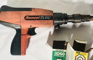 Vintage Ramset D75 Powder Actuated Tool Gun With Nails