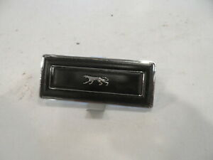 1969 69 1970 Mercury Cougar Dash Ac Block Off Plate W Running Cat Emblem Black