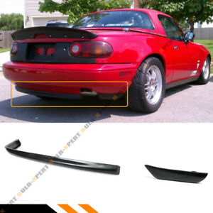 For 1990 97 Mazda Miata Mx5 Na Sport Style Add On Rear Bumper Lip Lower Diffuser