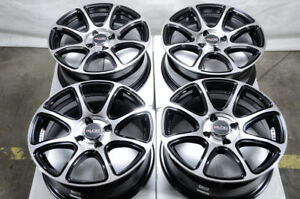 15 Wheels Honda Civic Accord Miata Cooper Scion Xa Xb Prius Yaris Black Rims