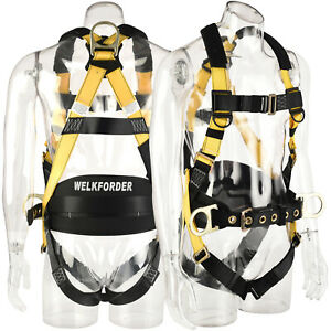 Welkforder 3d rings Industrial Fall Protection Safety Harness With Waist Pad