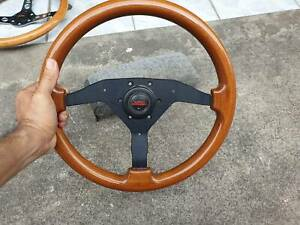 Altezza Disegno Ad Wood 3 Spoke Steering Wheel With Jdm Super Charger Horn Rare
