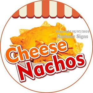 Cheese Nacho Decal choose Your Size Concession Food Truck Vinyl Circle Sticker