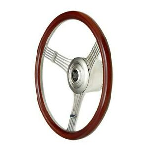 Gt Performance Steering Wheel Retro Banjo Wood Pol Spokes 21 4247