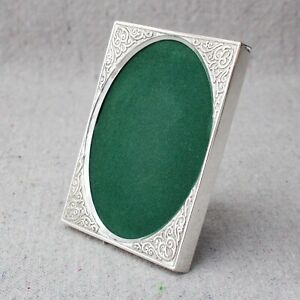 Vintage Sterling Silver Compact Travel Size Class Photo Picture Frame Dollhouse