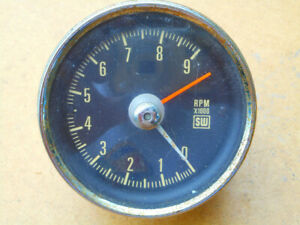 Vintage Stewart Warner Mechanical Cable Drive Tach 9k 3 3 8