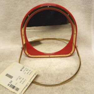 Vintage Small Red Frame 2 Sided Table Top Vanity Mirror