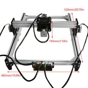 500mw 52x48cm Area Mini Laser Engraving Cutting Machine Printer Kit Diy Desktop
