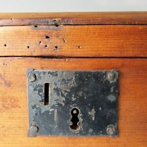 Antique Small Wooden Dome Top Chest