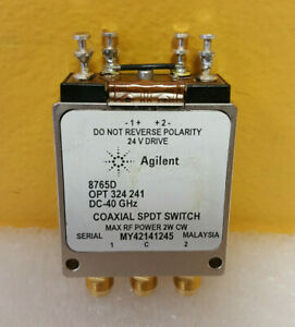 Agilent Hp Keysight 8765d 324 241 Dc To 40 Ghz Coaxial Switch Tested