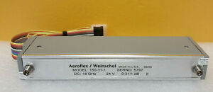 Aeroflex Weinschel 150 31 1 Dc To 18 Ghz 0 To 31db Programable Step Attenuator