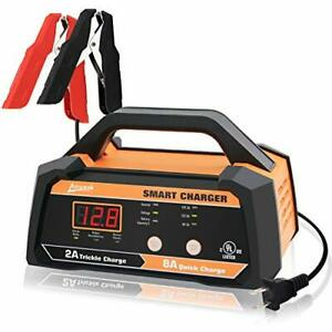 Smart Car Battery Charger Maintainer Fully Automatic With Cable Clamps