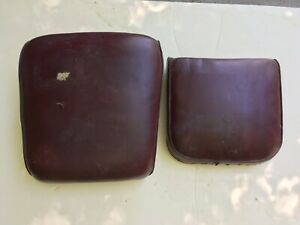 Vintage Antique Koken Barber Chair Seat And Seat Back