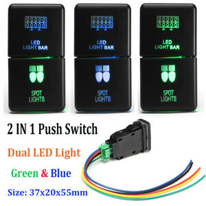 Spot Led Light Bar On Off Push Button Switch Laser For Toyota Fj Cruiser Prado