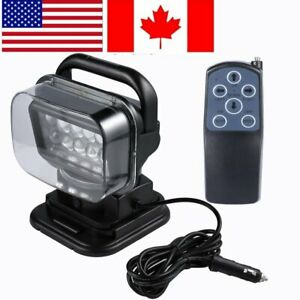 12v 50w Led Searchlight Boat Car 360 Spot Light Magnetic Remote Control Lamp Ek