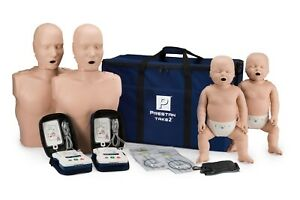 Prestan Take2 Cpr Training Kit W 2 Adult 2 Infant 2 Aed Trainers