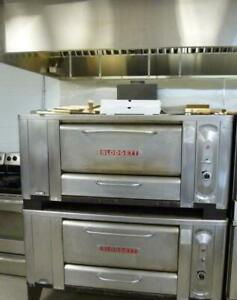 Hood 60 Blodgett 5 Double Pizza Oven 2 Deck Great Stones Gas