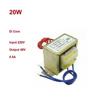 20w Ei57 Ferrite Core Power Ac Monophase Transformer Input 220v Output 48v 0 5a