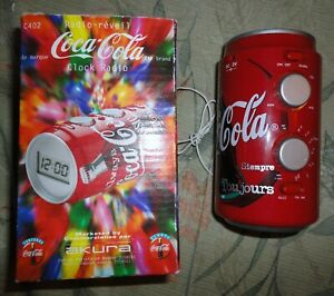 VINTAGE AKURA COCA COLA CLOCK RADIO MIB WITH BOOKLET